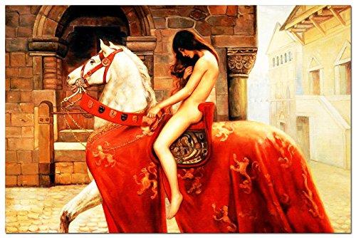 eloleo-88477a-pittura-olio-john-collier-lady-godiva-great-60x90-cm