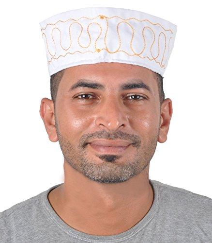 Egypt Bazar Traditionelle Arabische Kopfbedeckung - Araber - Karnevalskostüm/Farbe: weiß