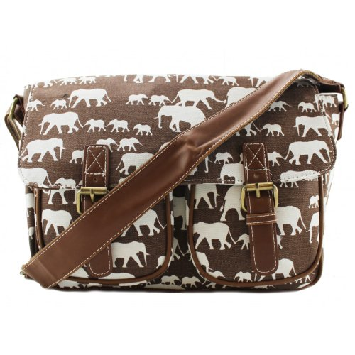 Miss Lulu Satchel Brown Elephant