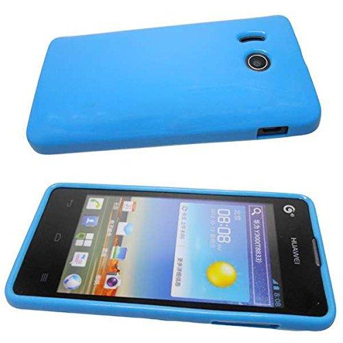 Handykondom Silikon Schutzhülle Bumper blau Huawei Ascend Y300