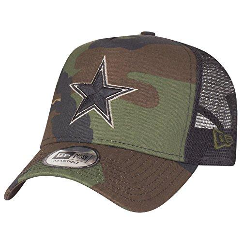 New Era Adjustable Trucker Cap - Dallas Cowboys Wood camo (Camouflage Cowboy Mütze)
