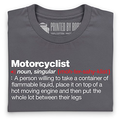 Motorcyclist Definition T-Shirt, Damen Anthrazit