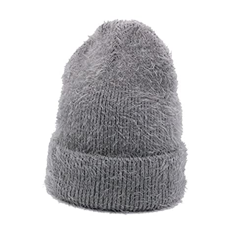 Automne Et Hiver Unisex Knitting Warm Beanie Hat Slouch Stretch Outdoor Wind Proof Cap Taille Unique,Grey-OneSize