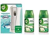 Air Wick Ambientador Freshmatic Completo + Nenuco AirWick Freshmatic MAX Ambientador de Recambio White Bouquet 2 Unidades - 500 ML