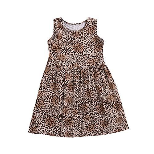 JUTOO 2019 Neue Kleinkind-Baby-Mädchen-Sleeveless Kleider, die Kleid-Kleidung drucken ()