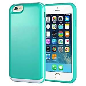 iPhone 6S Custodia,iPhone 6S Cover,Nakeey Custodia per iPhone 6S Design Protettiva Custodia Hard Soft Cover for iPhone 6/6S 4.7 inch Verde