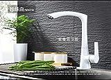 WINZSC Il rame tedesco genuino della cucina della pietra del quarzo il lavandino caldo e freddo del lavandino la vernice opaca nera può essere ruotata lo3 (Colore : Bianca)