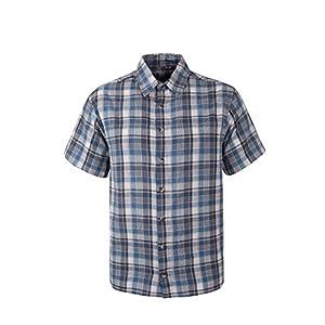 Mountain Warehouse Weekender Kurzarmhemd für Herren - Sommerhemd aus 100% Baumwolle, Freizeithemd, atmungsaktiv Kariertes Hemd, bequemes Oberteil Kurzarm-Shirt
