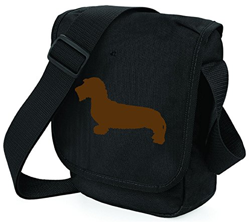 Bag Pixie - Borsa a tracolla unisex adulti Brown Hound Black Bag