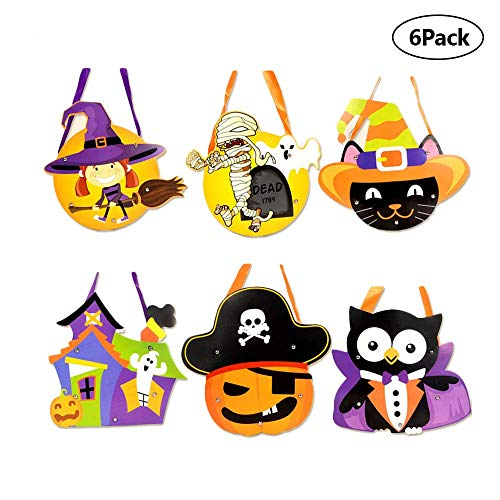 Insense Children Halloween Children Treat Bags DIY Kids Halloween Candy Cookie Bags for Party/Decoration -Pack of 6