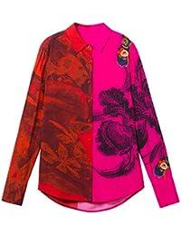 115f42dc9127d Amazon.fr   Desigual - Chemisiers et blouses   T-shirts, tops et ...
