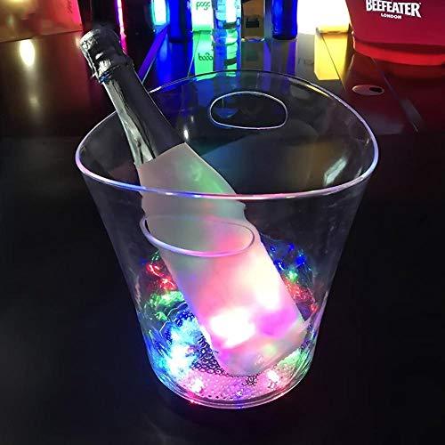 Dumcuw - Cubitera de Hielo con luz LED Intermitente automática, Vaso de Cerveza, cubeta de Hielo Grande para Copas de champán LED, Reutilizable, para Fiestas, Festivales, Regalo Creativo