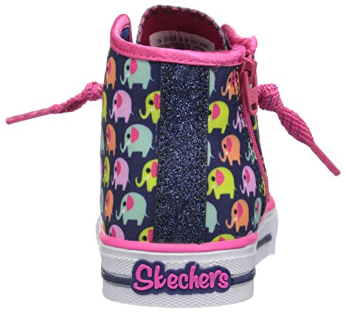 Twinkle Toes By Skechers Cheerful Chuckles Textile Turnschuhe Navy/Multi