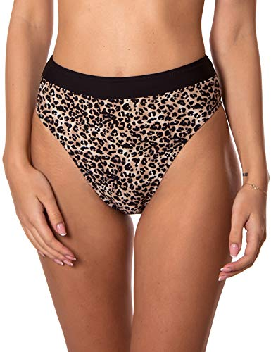 RELLECIGA Damen Bikinihose High Cut High Waisted - Mehrfarbig - Medium - Größe Secret Victoria Medium