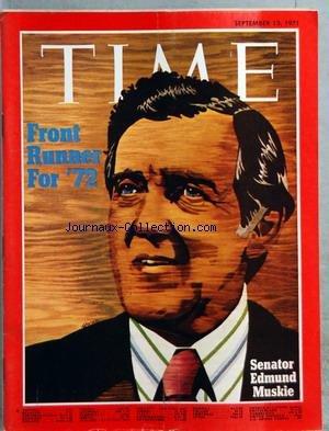 TIME du 13/09/1971 - FRONT RUNNER FOR 72 - SENATOR
