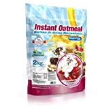 quamtrax Nutrition Strawberry and Cream avoine instantanée–2000gr