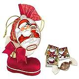 Nikolaus Stiefel mit Glöckchen und Schokolade