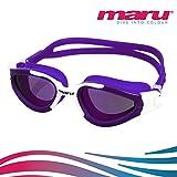 Gafas Groove de natación, polarizadas, de Maru, anti niebla–Gafas para aguas abiertas o triatlón, morado