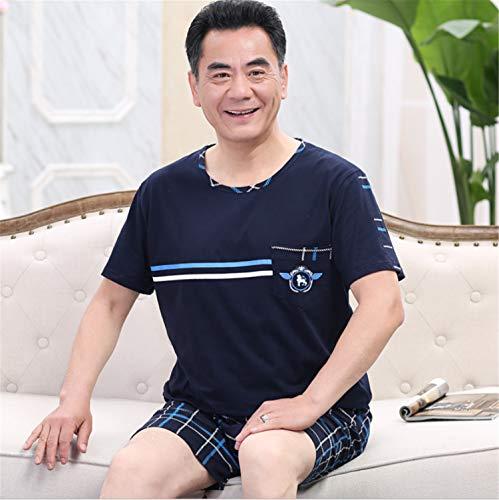 Herren-Sommer-Pyjama aus Baumwolle, älter Das Beste Leben für Erwachsene mit kurzen Ärmeln und Raglan-Sweatshirt und kurzen Hosen XL (Erwachsenen-raglan-langarm)