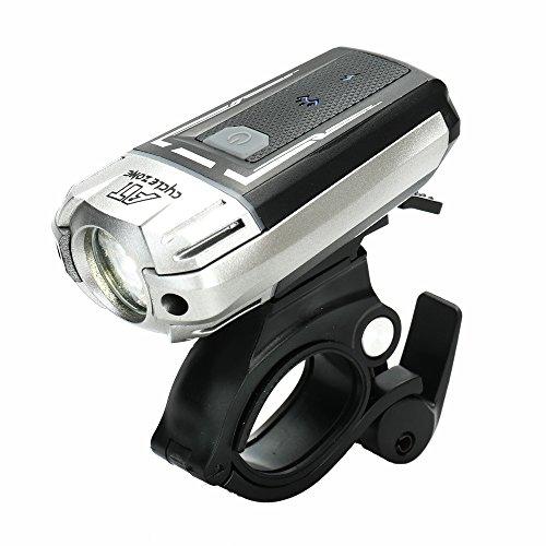 Festnight USB Wiederaufladbarer Fahrradlicht Front- und Rücklicht Set Super Heller Scheinwerfer und Rotes Rücklicht Wasserdichte Warnlichter für Outdoor Radfahren