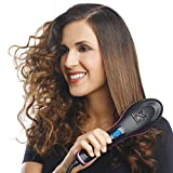 BUYERZONE WITH BZ LOGO 2 in 1 Plastic Ceramic Straight and Curler Hair