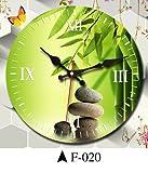 Komo silencioso Moderno Decoración Adorno para HogarReloj de Pared Ideas salón Dormitorio Moderno Reloj de Cuarzo,16 Pulgadas,Verde F-020