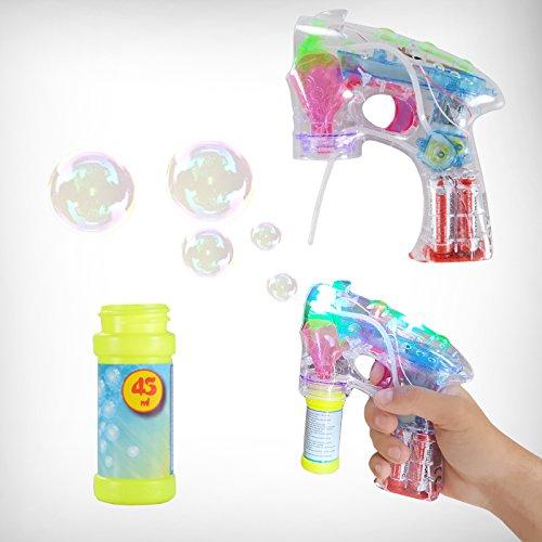 DRULINE LED Seifenblasenpistole Seifenblasenmaschine Seifenblasen Bubble Gun Batterie