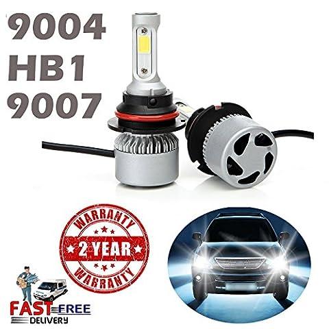 90049007HB1LED Scheinwerfer Lampe High und Low Beam 8000LM 6000K Diamant weiß ersetzen DRL 360Grad Abstrahlwinkel Plug und Play–2Jahre Garantie (Paar)