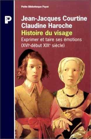HISTOIRE DU VISAGE. Exprimer et taire ses émotions (du 16ème siècle au début du 19ème siècle)