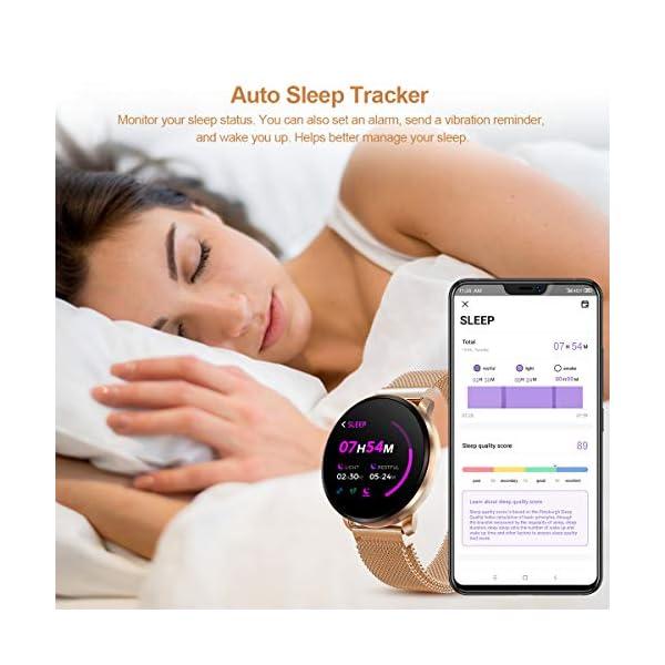 GOKOO Smartwatch Fashion para Hombre Mujer Impermeable Reloj Inteligente Monitores de Actividad Fitness Tracker con… 3