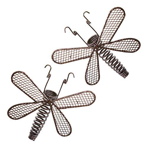GardenKraft 19530 Benross Guirlande Solaire LED avec 10 libellules en métal
