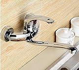XPYFaucet Wasserhahn Armatur Mischbatterie An der Wand befestigte Küche, in der warme und kalte Küchenpools mit Wänden gemischt Werden