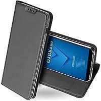 Funda Samsung Galaxy A6 2018,OJBKase Ultra-Delgado Premium piel sintética Libro Billetera Carcasa Protectora Cartera.