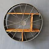 Rejilla de hierro industrial retro rejilla redonda de madera maciza Decoración de...
