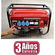 GENERADOR ELECTRICO DE GASOLINA 5500W (3 TOMAS MONOFASICAS (220/240V) DE 1000W CADA UNO Y UNA TOMA TRIFASICA (380V) DE 2500W) 3 AÑOS DE GARANTIA CAPACIDAD DEPOSITO DE GASOLINA DE 15 LITROS MOTOR DE 4 TIEMPOS ARRANQUE DE CUERDA PERFECTO PARA CASA CAMPING CAMPO