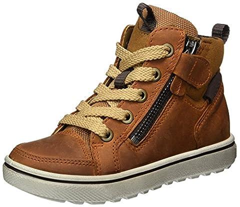 Ecco Jungen Glyder Hohe Sneaker, Braun (Amber/Camel), 35 EU