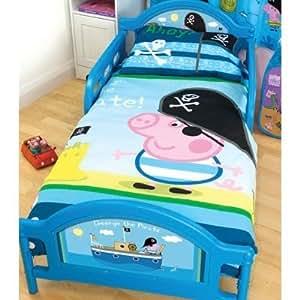 kinder bettw sche peppa pig george junior kissen und deckenbezug kinderbett gr e. Black Bedroom Furniture Sets. Home Design Ideas