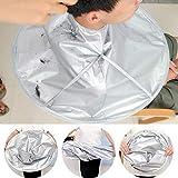Gaddrt DIY Haar Schneiden Umhang Regenschirm Cape Salon Barber für Salon & Home Stylisten mit Silber