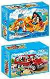 PLAYMOBIL® Family Fun 2er Set 9421 9425 Familien-PKW + Familie am Strand