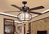 XI Guo Home Hotel Deko Licht, Deckenventilator mit Lampe chinesischen Stil kreativ mit Beleuchtung elektrische Fans minimalistischen Wohnzimmer Restaurant schön dekoriert Durchmesser 107cm Gzlight