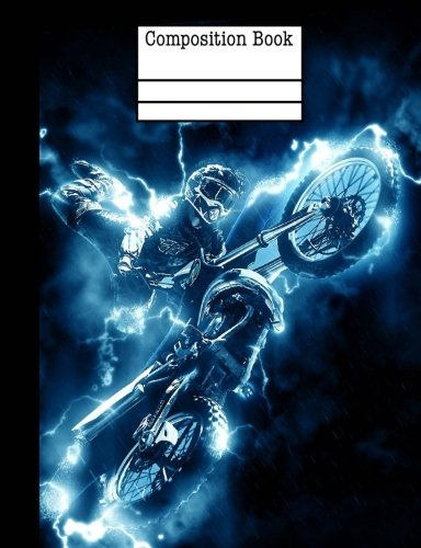 Motocross Electric Composition Notebook - 5x5 Quad Ruled: 7.44 x 9.69 - 101 Sheets / 202 Pages por Rengaw Creations