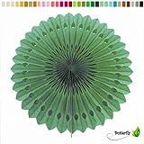 1 Papierfächer 25cm ( grün 580 ) // Deko Papier Fächer Rosetten Blumen Raumdeko Papierrosetten Hängedeko