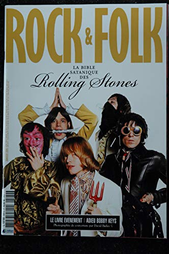 ROCK & FOLK 569 janvier 2015 COVER La Bible Satanique des ROLLING STONES Billy Idol Julian Casablanca (Magazin-cover Stone Rolling)