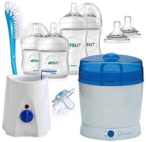 AVENT / Primamma Vorteilspack Naturnah Neugeborenen-Set inklusive Sterilisator & Flaschenwärmer