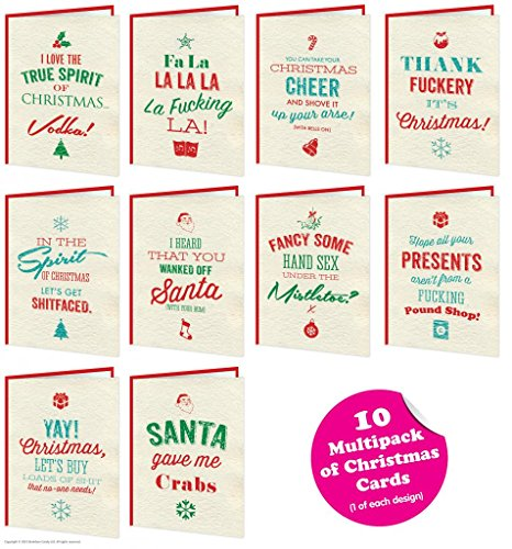 Brainbox Candy 10 Pack Of Christmas Cards Turkey Sandwich Range