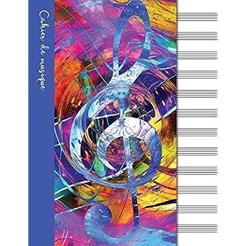 Cahier de musique: Cahier de partitions - Couverture  bleue