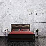 Cczxfcc Benutzerdefinierte 3D Fototapete 3D Retro Graue Wand Ziegel TapeteRestaurant Tv Hintergrund Lounge Wallpaper-350Cmx245Cm