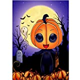 Sunbibe DIY 5d [non complète perceuse] Diamant Peinture par numéro kit, Halloween Cute Pumpkin Spider Man Strass à broder au point de croix d'arts Craft sur toile Décoration murale...