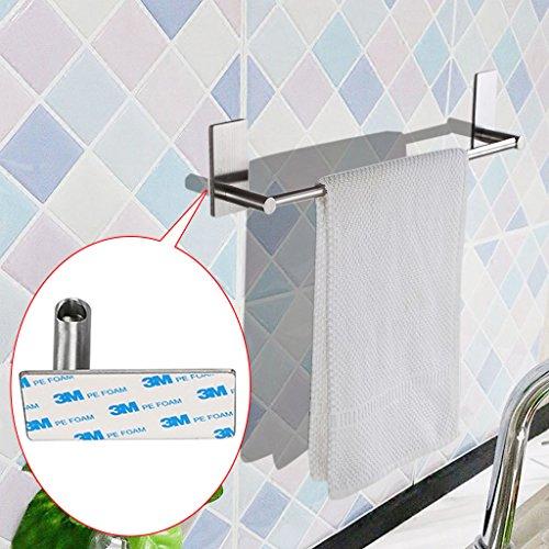 Btsky, Portasciugamani, Autoadesivo 3M, In acciaio inox, Per mantenere l'ordine, Accessorio da bagno o da bar