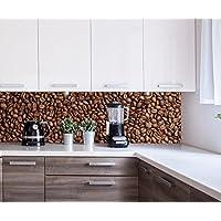 ... café Tostado Design M0843 180 x 50 cm (W x H) - 3 mm de Aluminio Pared Trasera Cocina Foto Foto Cocina Foto Foto Motivo Estufa azulejo Espejo reemplazo